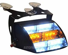18 LED Windshield White Amber Yellow Emergency Truck Strobe Flash Light Warning