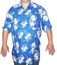 Camicia Hawaiana XL BLU CLASSICO Stag Hen FESTIVAL Beach Party Estivo Floreale