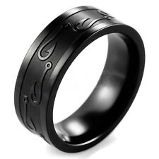 Tungsten Stainless Steel Wedding Band Ring Black Gold Silver Man Women Size 7-13