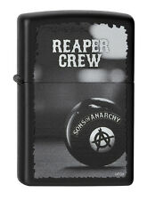 Zippo® SOA Sons of Anarchy Reaper Crew SAMCRO Black matte  - New / Neu OVP