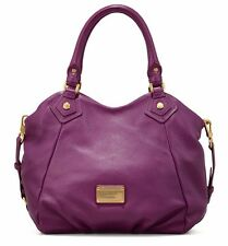 MARC BY MARC JACOBS CLASSIC Q FRAN HANDBAG VIOLET PURPLE LEATHER TOTE BAG $448