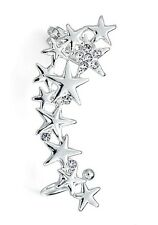 Silver Cluster Crystal Star Ear Cuff - Left Ear