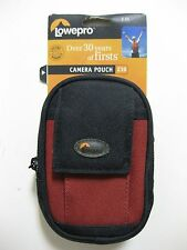 LOWEPRO Z10 Camera Pouch Carrying Case BLACK/RED BRAND NEW