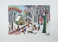 """""""The Forest"""" By La Giraudiere Artist Proof Lithograph On paper 25.5'' x 18.75''"""