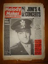 MELODY MAKER 1976 JAN 24 GLENN MILLER JONI MITCHELL
