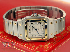 "CARTIER ""SANTOS"" MONTRE UHR HERRENUHR DAMENUHR STAHL/18K GOLD UNISEX WATCH RELOJ"