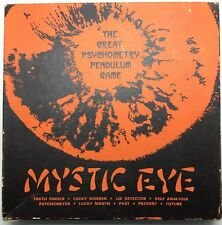 Vintage Mystic Eye, The Great Psychometry Pendulum Game. Lie Detector,lucky