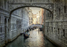 "BRIDGE OF SIGHS VENICE ITALY NEW A4 CANVAS GICLEE ART PRINT POSTER 11.7"" x 8.3"""