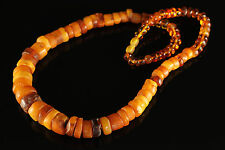 Natural Antique 62.19g. Butterscotch Egg Yolk Baltic Amber bead Necklace #275