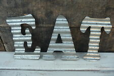 Corrugated Metal ~ EAT ~ Industrial LETTER Kitchen Cafe Diner Sign WALL DECOR