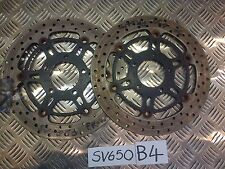 B4 SUZUKI SV 650 SV650 FRONT BRAKE DISCS & BOLTS 08 K8 K9 TWIN SPARK MODEL