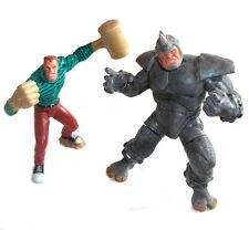 Marvel Comics Spiderman Sandman & The Rhino Villanos, detallada 6 Pulgadas Figura Set