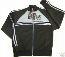 NWT MEN'S XS GRAY BLACK RETRO TRANSFORMERS DECEPTICON ROBOT ZIP UP TRACK JACKET