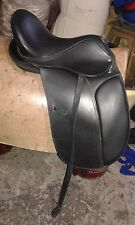"New Leather Treeless Dressage Saddle 17""  OFFER SALE"