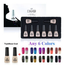 Elite99 Top Base Coat + Any 6 Nail Gel Polish Thermal Changing Colour Gift Set