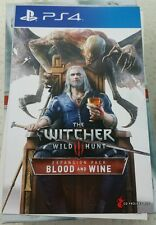 The Witcher III Wild Hunt Expansion DLC Code Blood and Wine PS4 - FREE POST
