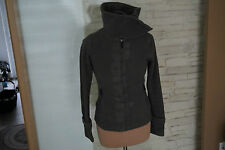 BENCH Damen Mädchen Fleece Jacke Fleecejacke Sweatjacke Funnel Neck Gr.S d.grau