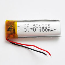 3.7V 180mAh LiPo polymer RechargeableLipo Battery 501235 For Mp3 GPS PSP DVD