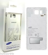 Genuine Samsung Wireless White Charging Battery Cover For Samsung Galaxy Alpha