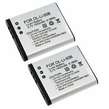 2x LI-50B BATTERY FOR OLYMPUS TG-820 iHS STYLUS Tough 6020 8000