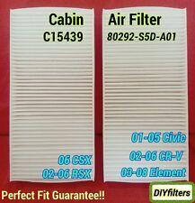 C15439 CIVIC CRV ELEMENT CSX RSX AC CABIN AIR FILTER 80292-S5D-A01