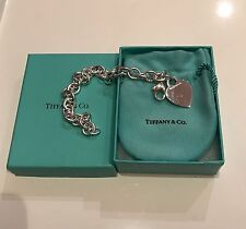 TIFFANY & CO. Sterling Silver 925 HEART TAG BRACELET **MUST HAVE**