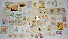64 USED 1940s 50s VINTAGE BABY GREETING CARDS Norcross Gibson Rust Craft Susie-Q