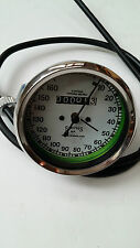 SMITHS SPEEDOMETER 160KM WITH CABLE ROYAL ENFIELD BSA NORTON REPLICA WHITE NEW