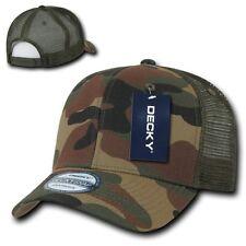 Woodland Camouflage 6 Panel Camo Trucker Acrylic Snapback Baseball Ball Cap Hat
