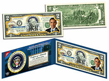 BARACK OBAMA *Presidential Series #44* Genuine Legal Tender US $2 Bill w/ Folio