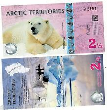 Arctic TERRITOIRES Billet  2 1/2  POLAR 2013  OURS POLYMER  UNC NEUF