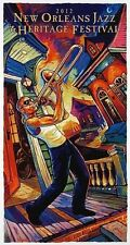 2012 New Orleans Jazzfest poster featuring Trombone Shorty by Terrance Osborne