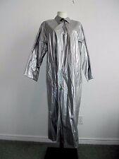 KENN SPORN FOR WIPPETTE Shiny Gray Vinyl Rain Coat Slicker Sz M NWT