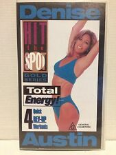 DENISE AUSTIN ~ TOTAL ENERGY! ~ 4 QUICK REV-UP WORKOUTS ~ HIT THE SPOT ~ VIDEO