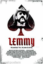 "MOTORHEAD ""LEMMY - 49% MOTHERF**KER. 51% SON OF A BITCH"" COMMERCIAL MOVIE POSTER"