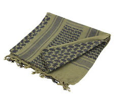 Military Shemagh Tactical Desert Keffiyeh Scarf Head Wrap-OD/BLACK