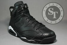 AIR JORDAN 6 VI RETRO 384664-020 BLACK CAT IN HAND BLACK WHITE DS SIZE: 10