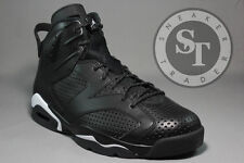 AIR JORDAN 6 VI RETRO 384664-020 BLACK CAT IN HAND BLACK WHITE DS SIZE: 9.5