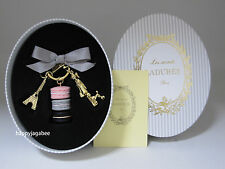 LADUREE Key Chain Macarons Effiel Tower Parisienne Light Gray Best for Gift New