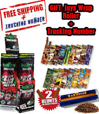 12x Variety Packs Juicy Jays Flavored Double Blunt Wraps + GIFT Juicy Roller