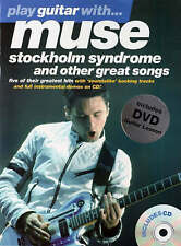 Play Guitar With Muse Sheet Music Book & CD Tab Stockholm Syndrome Sunburn B71