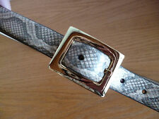 "AK Anne Klein Skin Print  Belt Browns  Brass Hdwr  1055844    W  7/8""  XL"