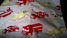 New Pottery Barn Kids Organic FIRETRUCKS Twin DUVET fire engine truck