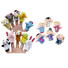 16PC Finger Puppets Animals People Family Members Educational Toy Trusty
