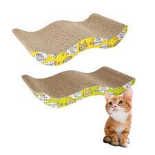 Wave Design Pet Cat Toy Scratcher Corrugated Cardboard Pad with Catnip