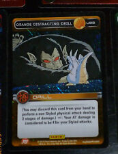 DRAGON BALL Z TCG DBZ PANINI CARD CARDDASS PRISM CARTE U92 ORANGE DISTRACTI FOIL