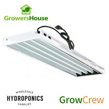 GrowersHouse Grow Crew HO T5 V2 4', 4 Bulb Fixture w 6500k Bulbs - 120/240/277v