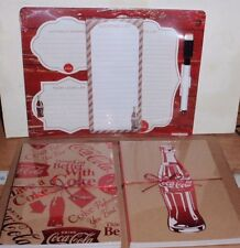 COCA-COLA FLEX JOURNALS X4 & DRY ERASE BOARD WITH MARKER & LIST PAD BRAND NEW