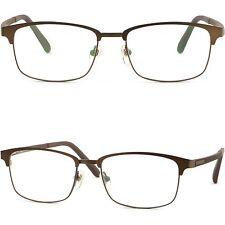 Leicht Herren Damen Brille Brillengestell Vollrand Titan Brillenfassung Braun