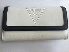 GUESS Womens White Multi Peak Slg Trifold Wallet Free Shipping SALE